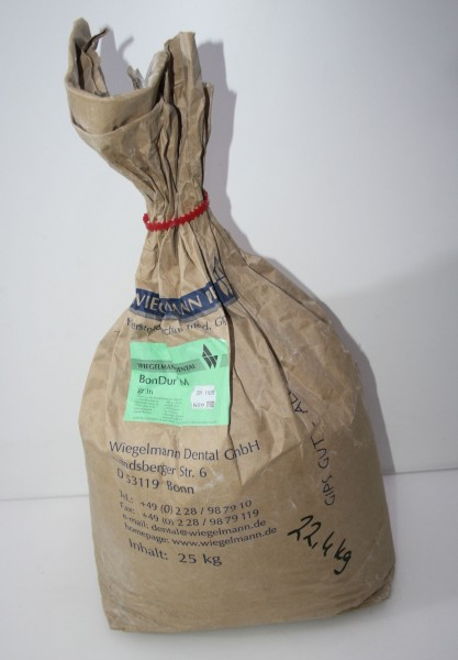WIEGELMANN DENTAL Modellhartgips BonDur M grün - 22,4 kg