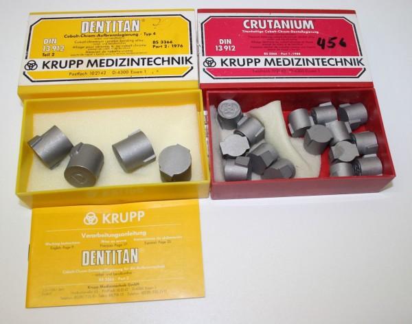 Krupp Cobalt-Chrom-Aufbrennlegierung + Titanhaltige Dentallegierung # 1824