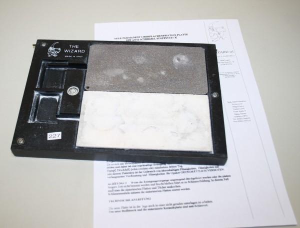 Permanent Oberflächenfeuchte Platte / Anmischplatte # 227